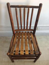 Vintage Old Hickory Rustic Dining Chairs - Set of 4 | Chairish