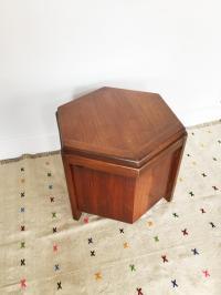 Lane Mid-Century Hexagon Storage Side Table   Chairish