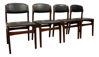 Mid-Century Mobler Style Curved Walnut Dining Chairs - Set ...