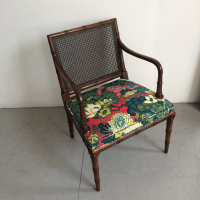 Vintage Faux Bamboo Accent Chair | Chairish