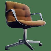 Steelcase Mid-Century Brown Office Chair | Chairish