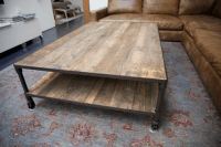 Restoration Hardware Dutch Industrial Coffee Table | Chairish