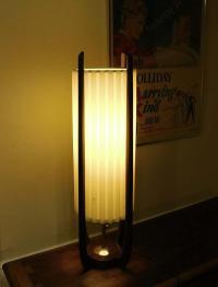 Modeline Mid-Century Modern Teak Table Lamp | Chairish