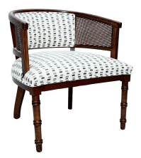 Cane Barrel Back Chair | Chairish