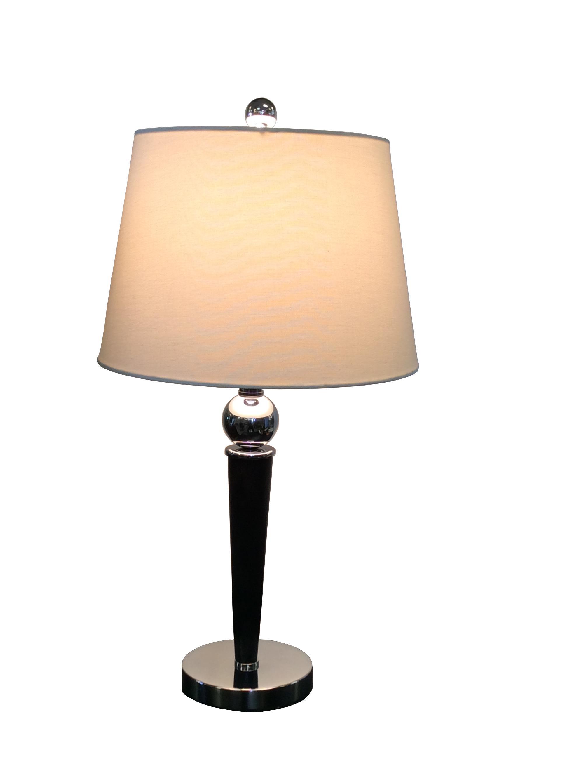 Modern Black & Chrome Table Lamp