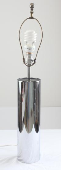 Vintage George Kovacs Chrome Cylinder Table Lamp | Chairish