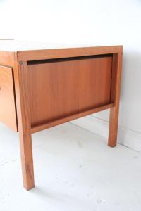 Vintage Mid-Century Modern Teak Floating Desk | Chairish