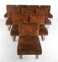 Kagan Style Mid-Century Dining Chairs - Set of 10 | Chairish