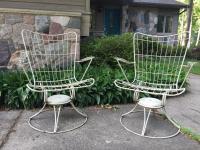 Homecrest Patio Chairs - A Pair | Chairish