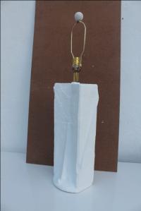 Vintage Sculptural White Plaster Table Lamp | Chairish