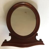 Antique Oval Table Top Mirror | Chairish