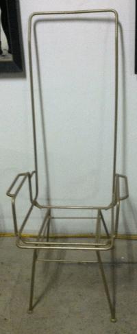 Wrought Iron Mid-Century Modern Chairs - Pair | Chairish