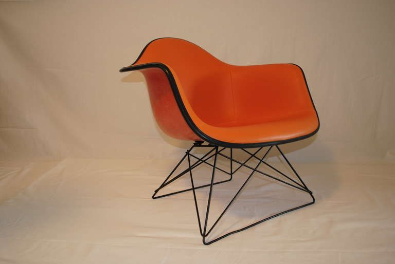 Herman Miller MidCentury Orange Lounge Chair  Chairish