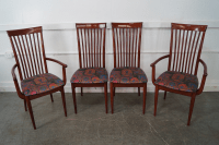 Mid Century Italian Spindle Back Dining Chairs - Set of 4 ...