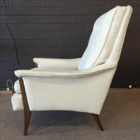 Mid Century Modern Kroehler High Back Arm Chair | Chairish