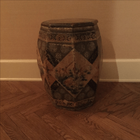 Antique Chinese Garden Stool/Side Table | Chairish
