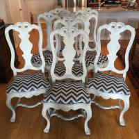 Portuguese Baroque Style Carved Chairs - Set of 8   Chairish