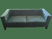 Tufted Teal Velvet Sofa | Chairish