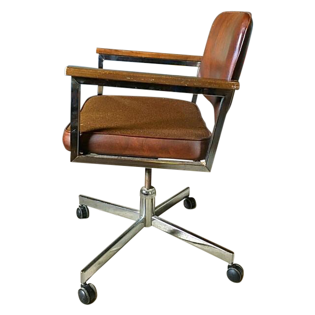 Vintage Rolling Office Chair  Chairish