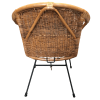 Vintage Rattan Hoop Chair