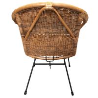 Vintage Rattan Hoop Chair | Chairish