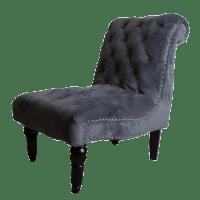 Restoration Hardware Tufted Velvet Slipper Chair | Chairish