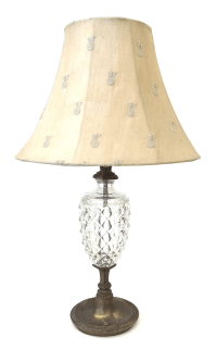 Antique Glass & Brass Pineapple Style Table Lamp | Chairish