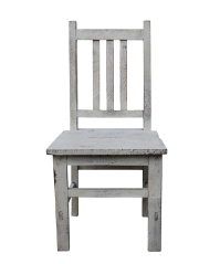 Asian Style Handmade Rustic White Small Wood Chair | Chairish