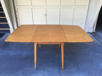 Mid-Century Modern Drop Leaf Wood Table | Chairish