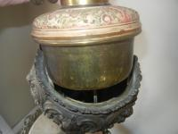 Antique Victorian Cast Iron, Brass & Marble Table/Floor ...