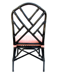 Vintage Chinese Chippendale Bamboo Chair | Chairish