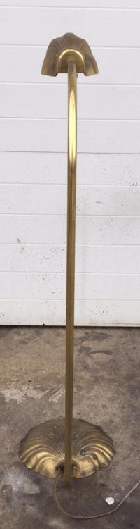 Vintage Brass Stiffel Shell Floor Lamp | Chairish