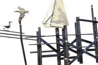 Mid-Century Modern Brass Sailboats Wall Art | Chairish