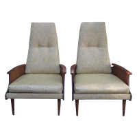 Mid-Century Bentwood Arm Lounge Chairs - Pair | Chairish