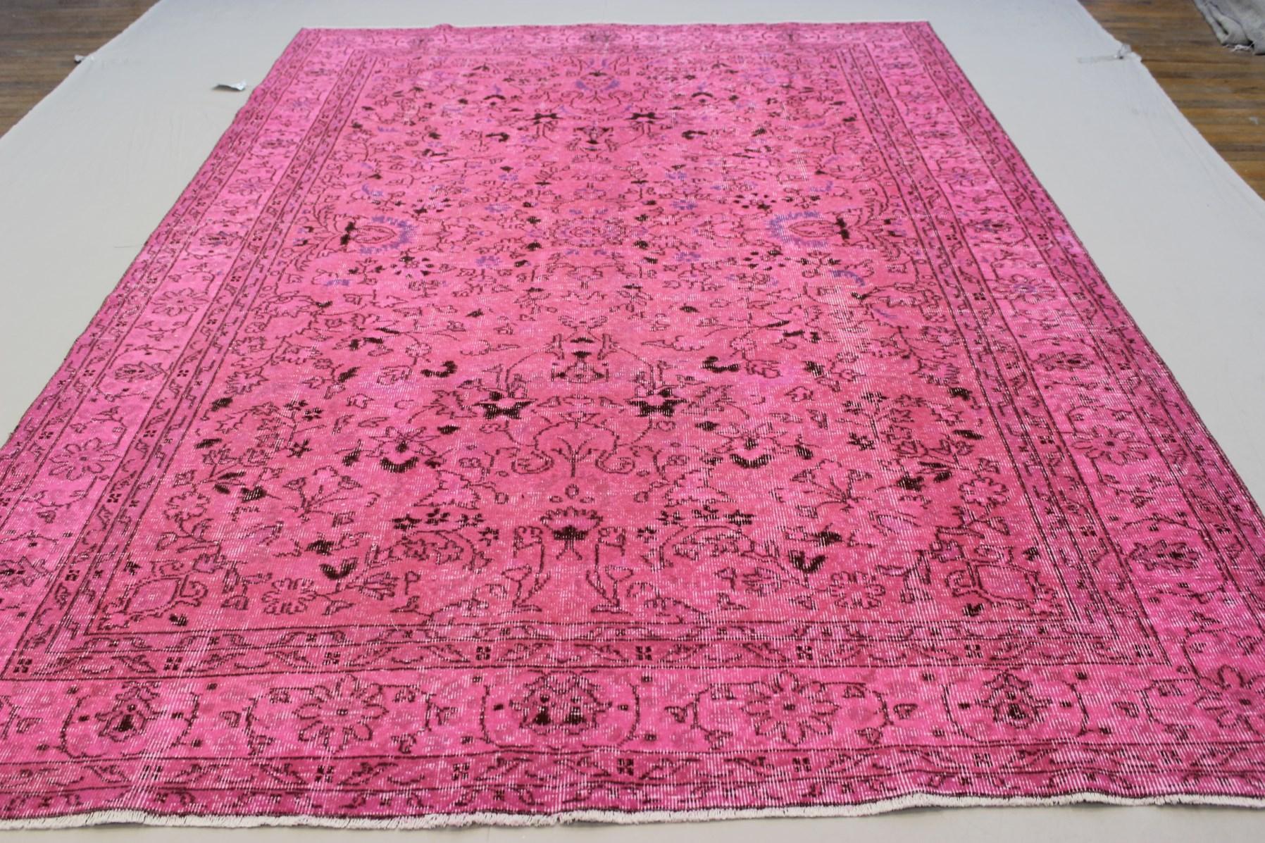 Pink Oushak Overdyed Rug