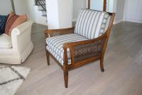 Mid-Century Newly Reupholstered Side Chair With Caning ...