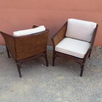 McGuire Furniture Cane & Bamboo Accent Chairs - a Pair ...