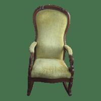 Vintage 1950s Yellow Rocker Chair | Chairish