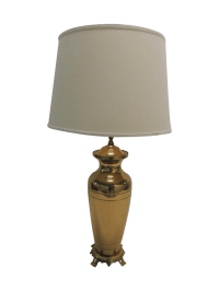 Hollywood Regency Brass Ginger Jar Table Lamp | Chairish