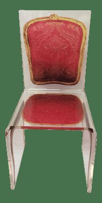 Altuglas Louis XVI Style Acrylic Lucite Chair | Chairish