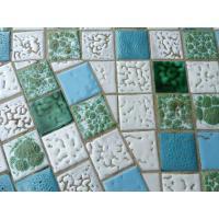 Mid-Century Modern Brass & Tile Coffee Table | Chairish