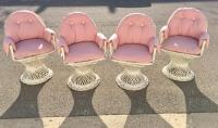 Russell Woodard Spun Fiberglass Chairs - Set of 4   Chairish