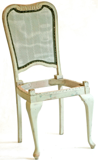 Mint Green Solid Oak Vintage Dining Chairs