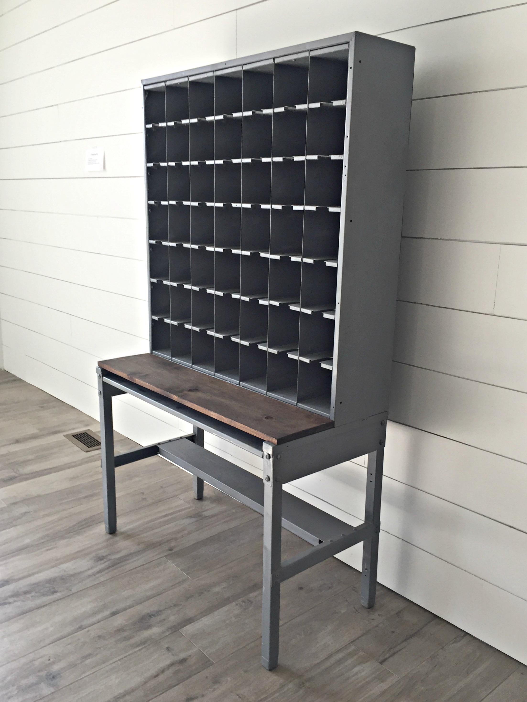 Vintage Steel Mail Sorter  Chairish