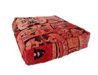 Pink Moroccan Rug Floor Pillow | Chairish