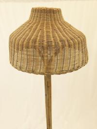 Vintage Woven Wicker & Rattan Floor Lamp | Chairish