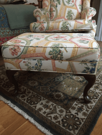 Ethan Allen Queen Anne Wing Chair & Ottoman | Chairish