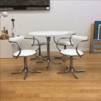 Vintage White and Chrome Dinette Set