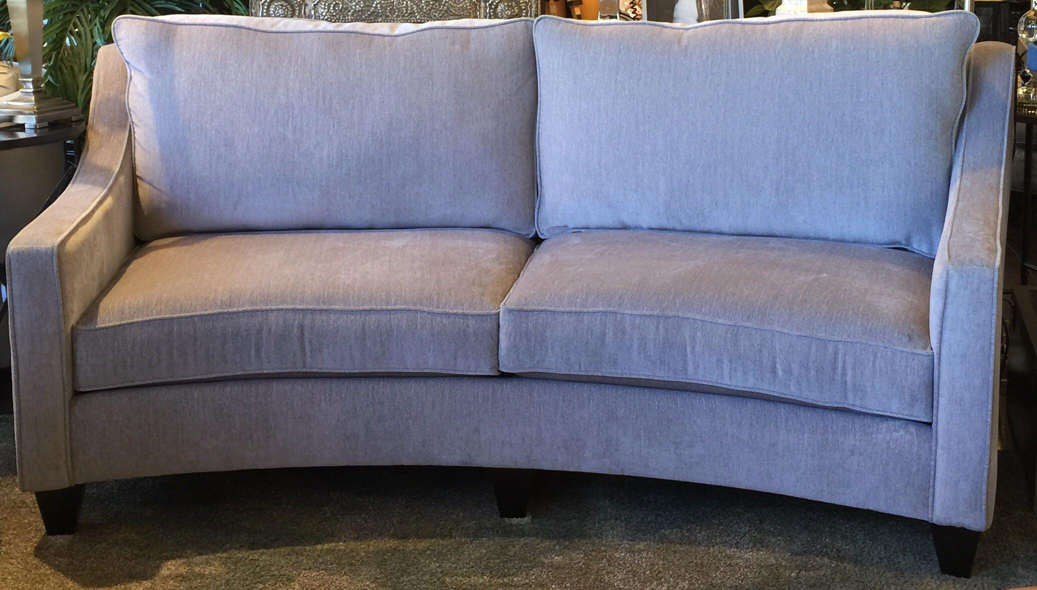 Custom Curved Gray Sofa Chairish