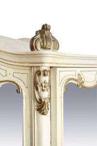 French Mirrored & Cream Painted Curio Cabinet | Chairish